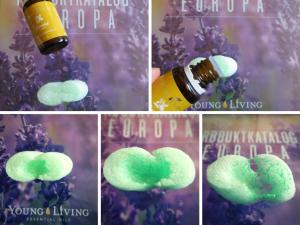 Die Wirkung der Zitrone von Young Living auf Styropor